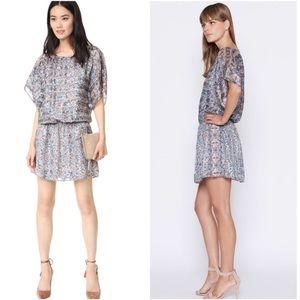 Joie Sofinne Silk Blouson Dress L